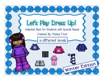 Let's Play Dress-up: Winter Edition- Adapted Book for Stud