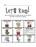 Let's Read!  Homework