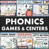 Phonics Centers / Word Work Centers Bundle