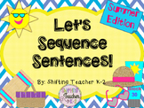 Let's Sequence Sentences - Summer Edition