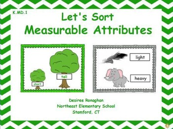 Let's Sort Measurable Attributes: An Activeboard Math Cent