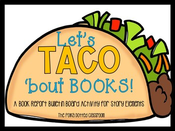 Let's TACO 'bout Books Book Report Craft