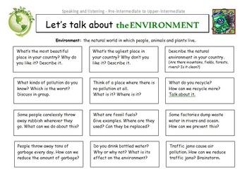 ESL Let's Talk About Series - Conversation Worksheets Bund