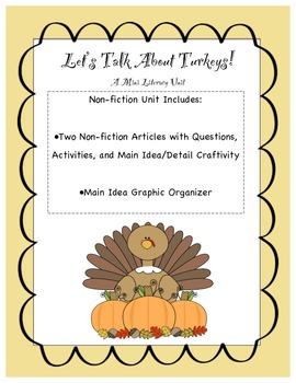 Let's Talk About Turkeys: Non-fiction Texts & Activities
