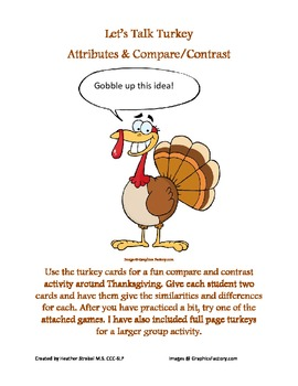 Let's Talk Turkey - Attributes & Compare/Contrast