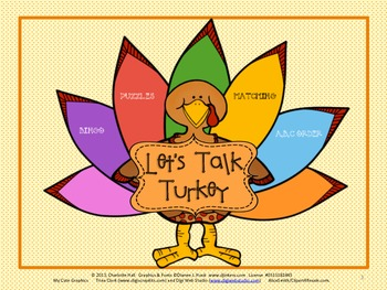 Let's Talk Turkey - Thanksgiving Word and Vocabulary Work