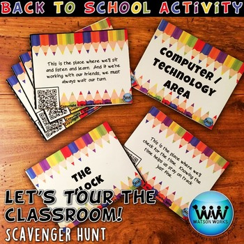 Let's Tour the Classroom! Scavenger Hunt: A Back to School