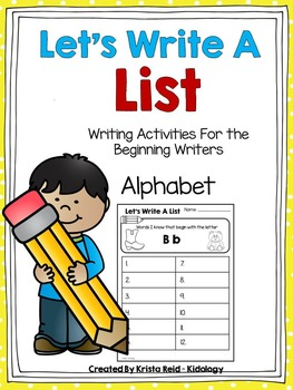Let's Write A List - Alphabet Set