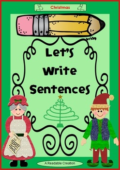Let's Write Sentences - Christmas {Ruled Lines}