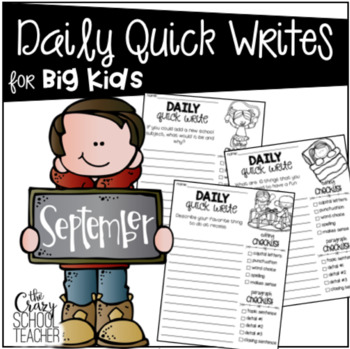 Daily Quick Writes for BIG KIDS {September}