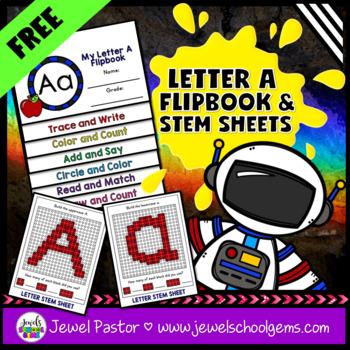 Letter A Alphabet Interactive Notebook Activities Flipbook FREE