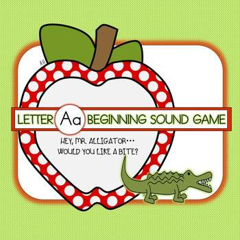Letter A Beginning Sound Group Activity - Alligator and Ap