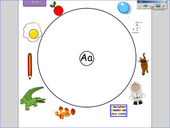 Letter A Circle Map