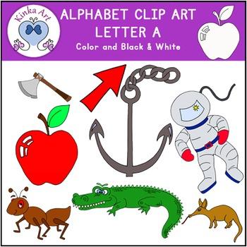 Letter A Clip Art {Beginning Sounds} Alphabet