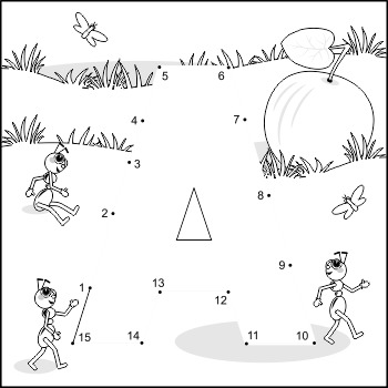 Letter A Connect the Dots and Coloring Page, Commercial Us