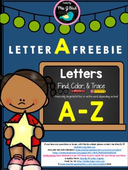 Letter A FREEBIE