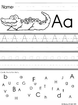 Letter A Handwriting Practice
