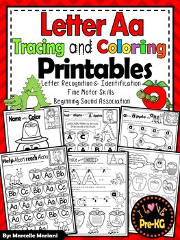 Pre-KG Alphabet Worksheets- LETTER Aa Printables- Tracing,