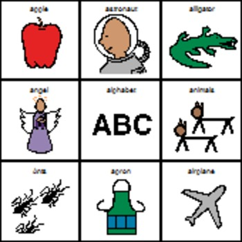 Letter A Picture matching