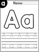 Letter A Recognition Worksheet FREEBIE!