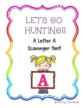 Letter A Scavenger Hunt