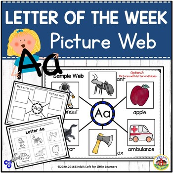 Letter Aa Beginning Sound Picture Web Activity