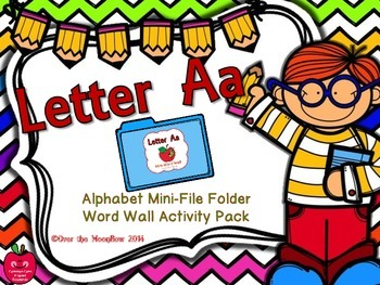 Letter Aa Mini-File Folder Word Wall Activity Pack