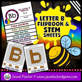 Letter B Alphabet Interactive Notebook Activities Flipbook