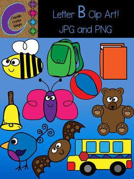 Letter B Beginning Sound Clip Art Alphabet
