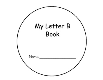 Letter B Interactive Book