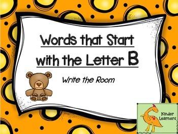 Write the Room Letter B