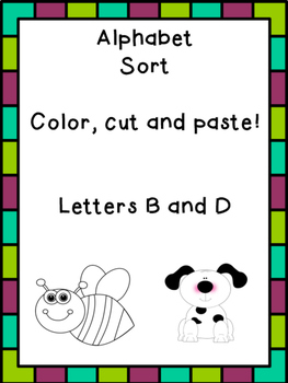 Letter B and D sort