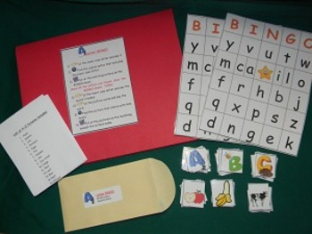 Letter BINGO literacy center classroom resource tool