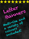 Chalkboard Letter Banners/Display/Signs