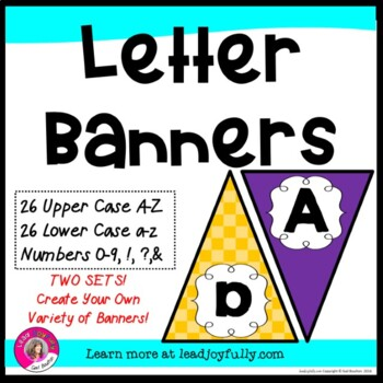 Letter Banners! Create a Variety of Your OWN Banners! (Pur