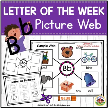 Letter Bb Beginning Sound Picture Web Activity