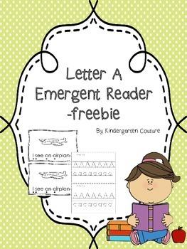 Letter Book A Emergent Reader -freebie