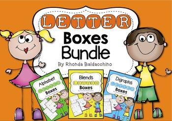 Letter Boxes Bundle {Alphabet, Blends, Digraphs}