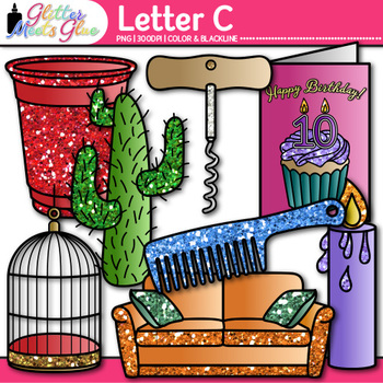 Letter C Alphabet Clip Art {Teach Phonics, Recognition, an