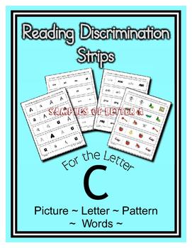 Letter C Reading Discrimination Strips for Fluency and Alp