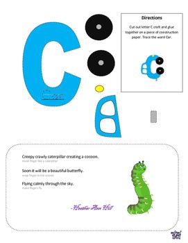 Letter C cutout craft
