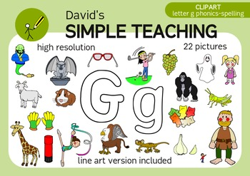 Letter C phonics - spelling clipart with free preview