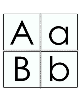 Letter Cards A, B