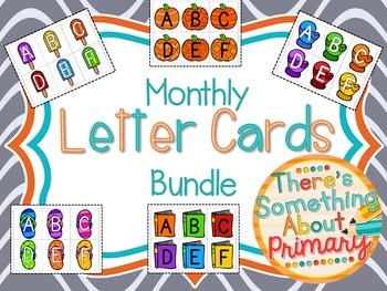 Monthly Letter Cards Bundle