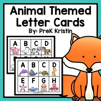 Alphabet Letter Cards: Animal Themed