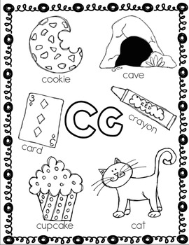 Letter Cc Coloring Sheet *FREEBIE*