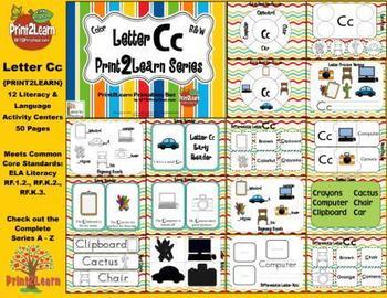 Letter Cc Language & Literacy Activity Center {COMMON CORE