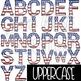 Letter Clipart Uppercase & Lowercase {America}