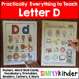 Letter D | Alphabet Printables and Centers