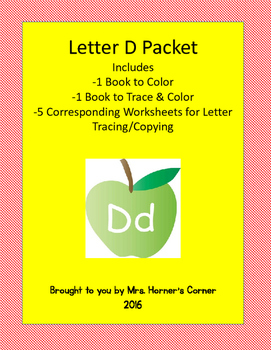 Letter D Activity Bundle - 2 Books with 5 Corresponding Wo